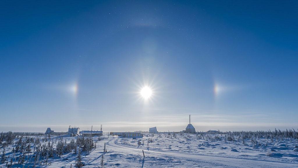 Three-sun weather illusion appears over Inner Mongolia skies - CGTN