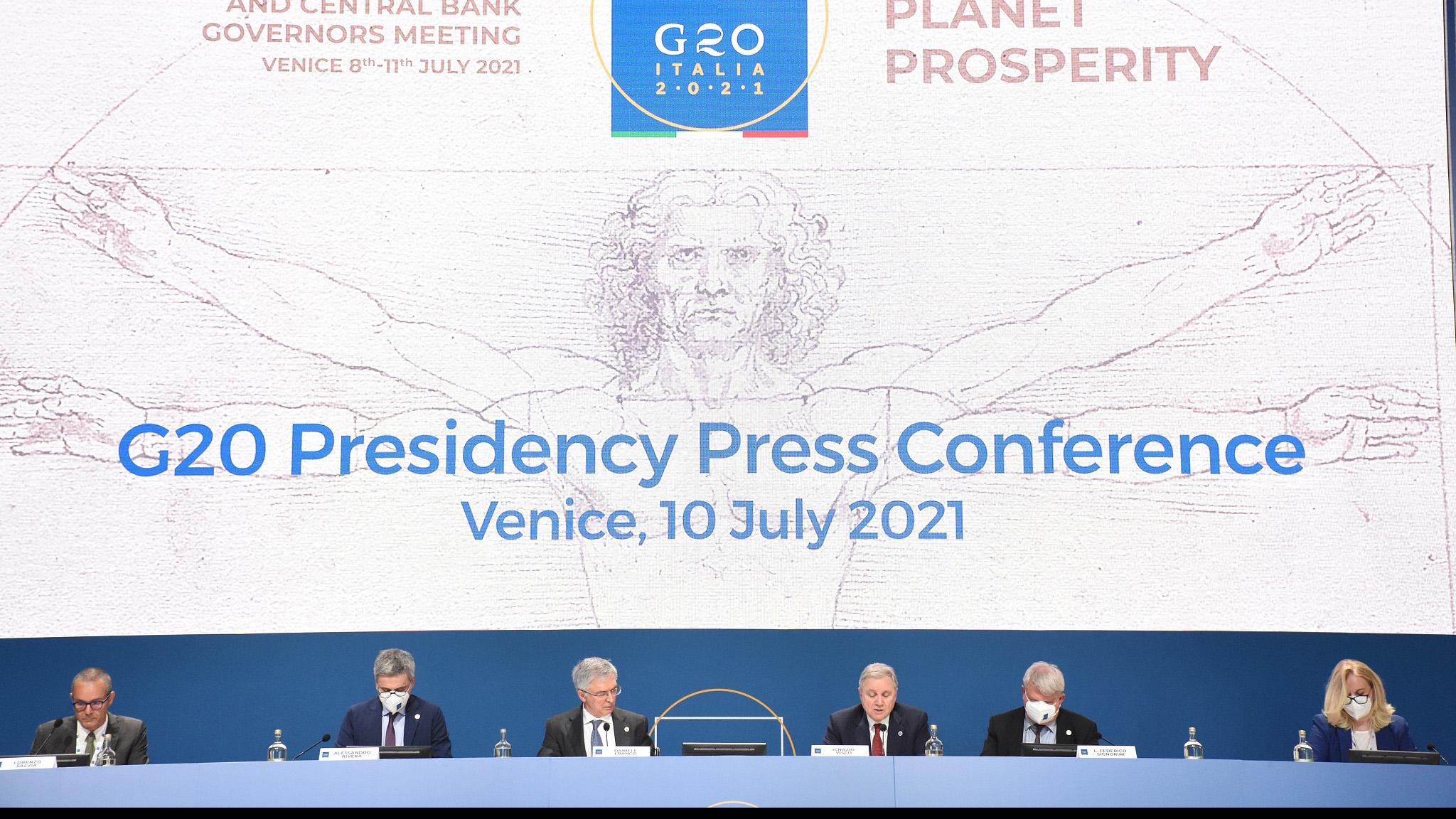 G20 leaders seek agreement on 15% global corporate tax rate - CGTN