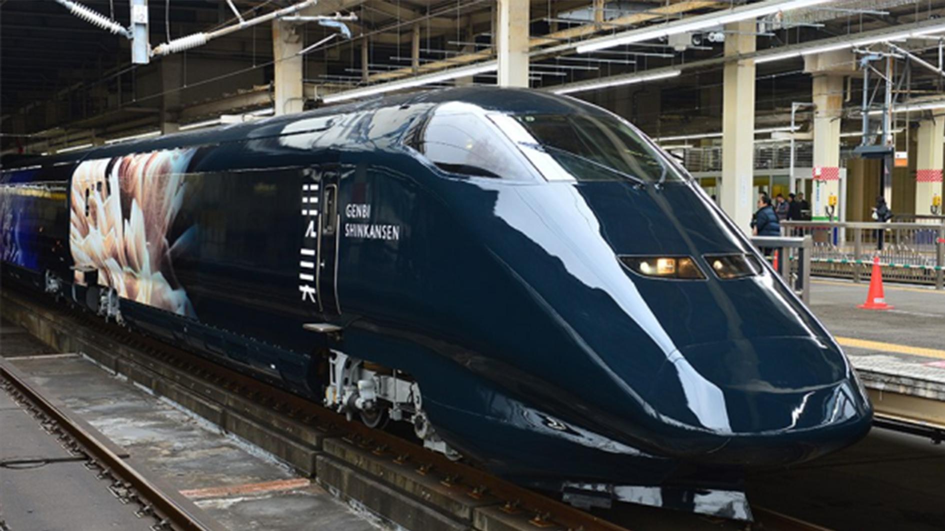 Japanese bullet train world's fastest art gallery - CGTN