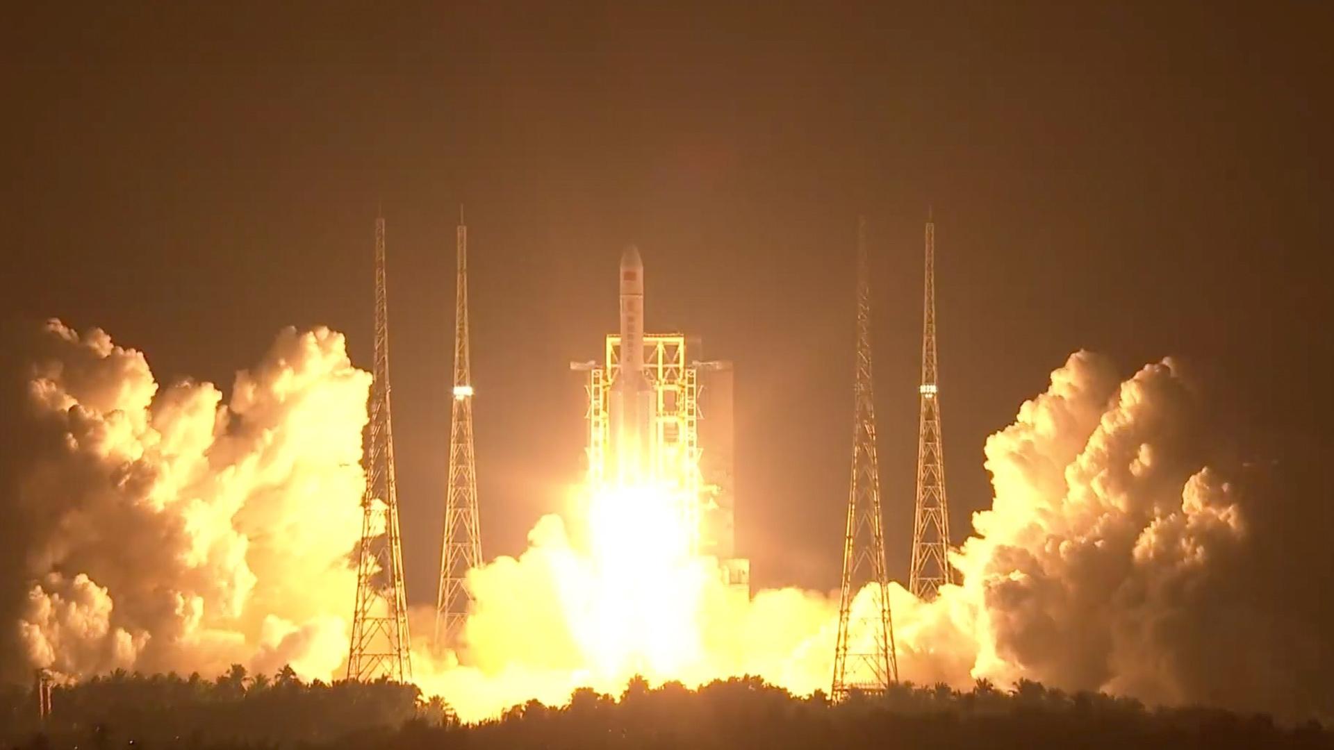 Global media hail China's Long March-5 rocket launch - CGTN