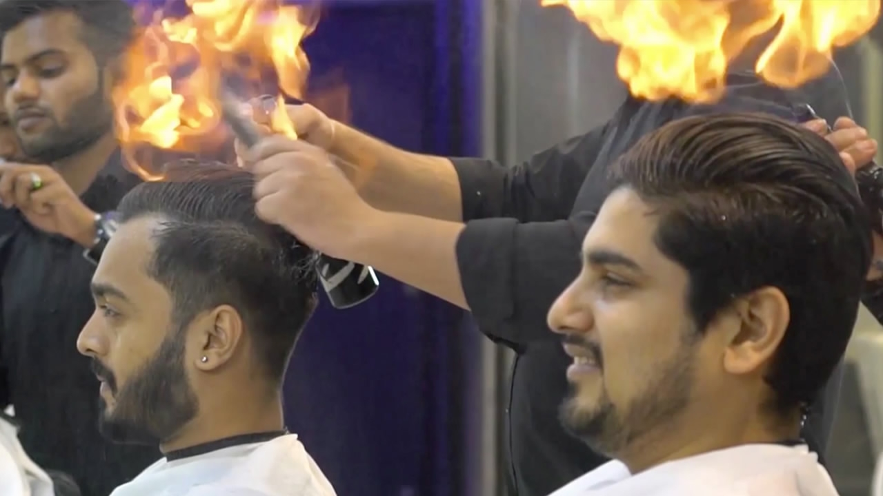 This Indian Barber Has Found An Innovative Way Of Cutting Mens Hair