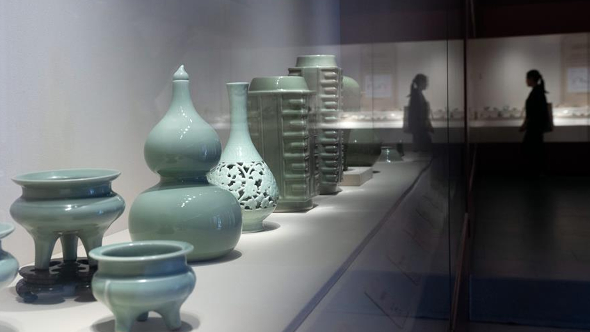 Porcelain unearthed in the Song Dynasty Celadon kiln vase
