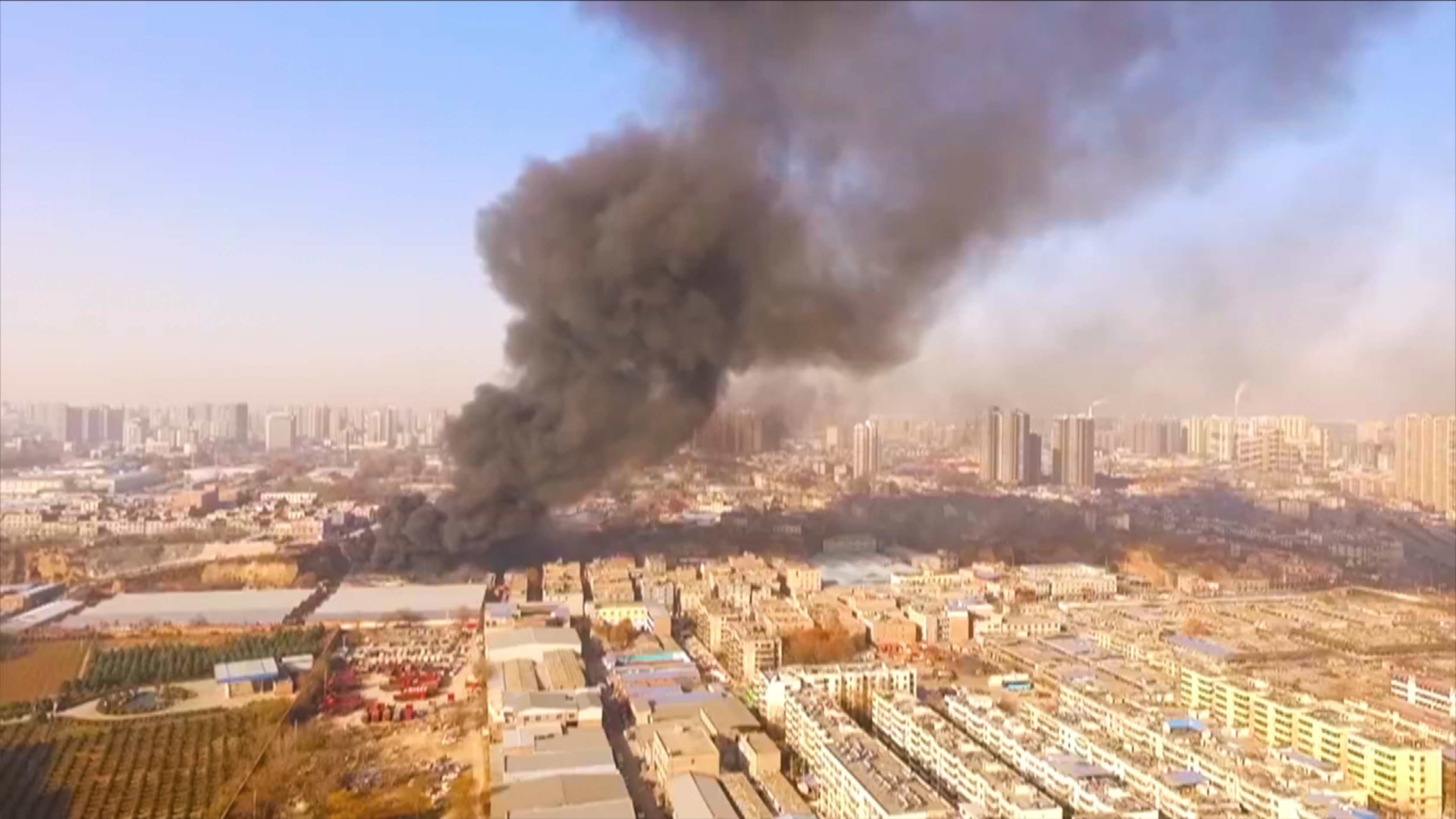 A Fire Broke Out Inside A Furniture Market Warehouse In The City Of